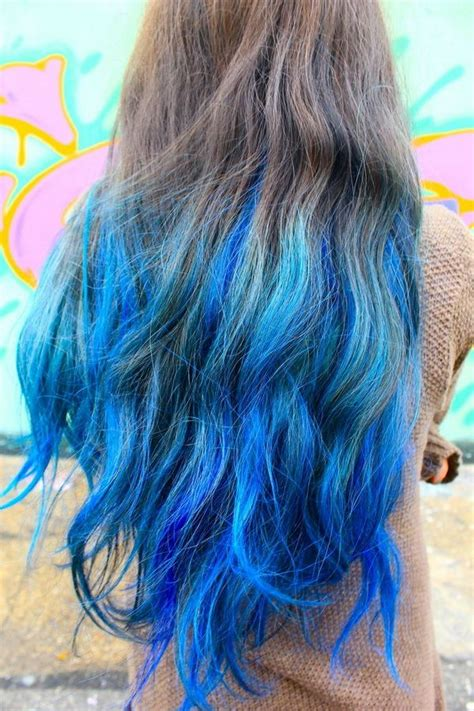 hairstyles dip dye hair trends 2015 10 hottest blue dip dye hair colors for