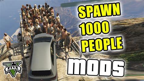 mod gta 5 youtube gta 5 mods pushing 1000 people off mt chiliad gta v