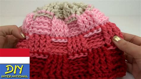 video tutorial merajut topi merajut topi dingin motif keranjang cantik youtube