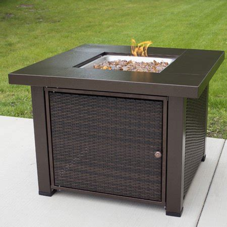 38 in square gas pit table pleasant hearth 38 quot square wicker gas pit table
