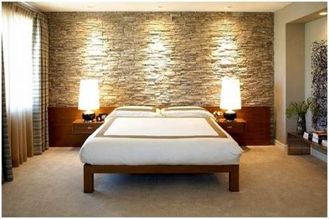 günstige beleuchtung vorschlaege wandgestaltung wohnzimmer mit stein