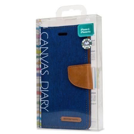 Canvas Diary Mercury Ori Iphone 6 Plus Bluecamel mercury canvas diary iphone 6s 6 wallet blue camel