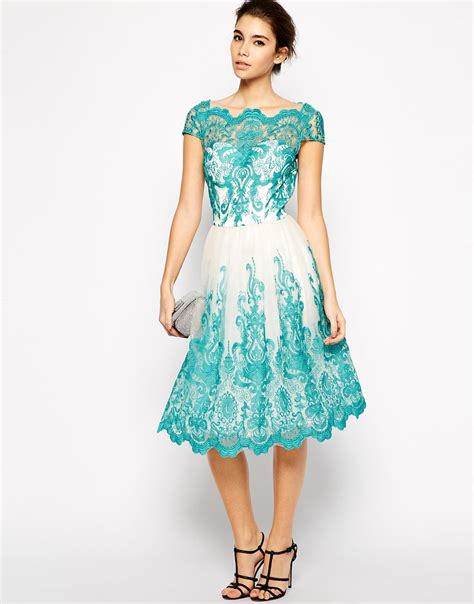 Lace Embroidered Dress lyst chi chi premium embroidered lace prom dress