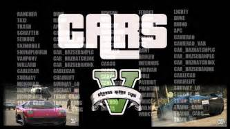 gta 5 new cars list gta v rumours car list gta 5