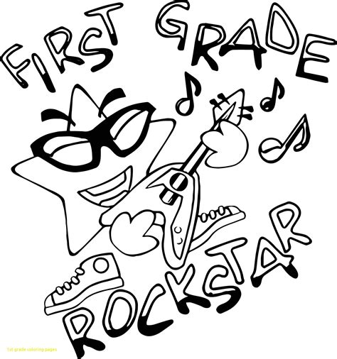 Grade 1 Coloring Pages by 1st Grade Coloring Pages With Grade Rock