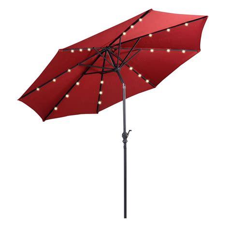 Best Solar Patio Umbrellas And Umbrella Lights Ledwatcher Best Patio Umbrellas