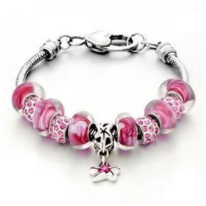 Monogram Cuff Bracelet Star Dangle Pink Murano Glass Beads And Charms Bracelet Fit Pandora Chamilia Charms Beads
