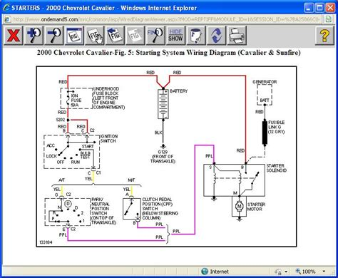 2002 chevy cavalier ignition switch wiring diagram