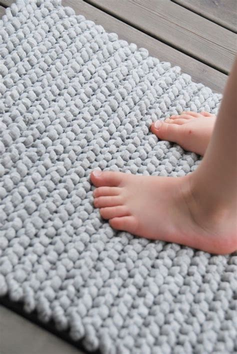 teppiche selber stricken simple rug with zpagetti yarn home decoration