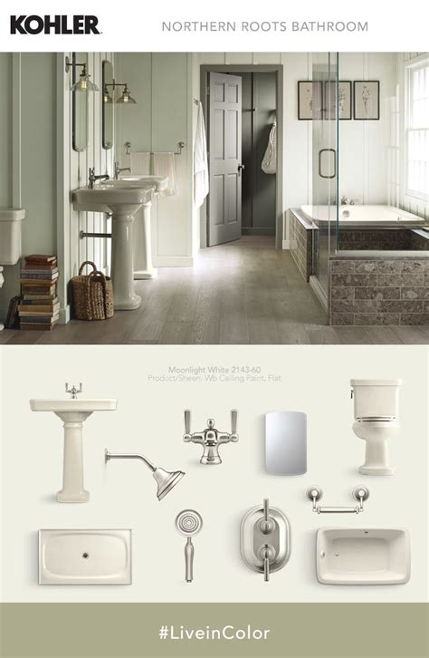 softer complementary shades accent almond fixtures for a