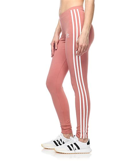 Legging Pink adidas 3 stripe mauve zumiez