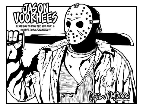 jason voorhees coloring pages online jason voorhees with hockey mask jason voorhees coloring
