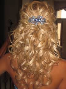 Loose curls pulled back easy pull back hair