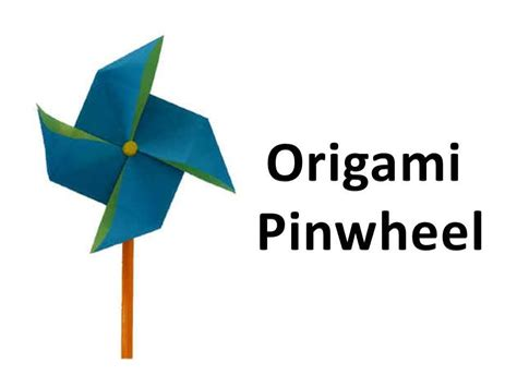 Origami Windmill - how to make an origami pinwheel windmill