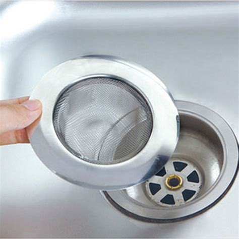 1pc steel kitchen sewer sink strainer filter barbed