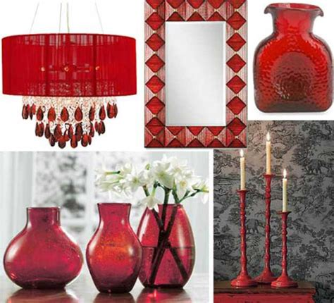 Home Interior Items | 15 interior decorating ideas adding bright red color to