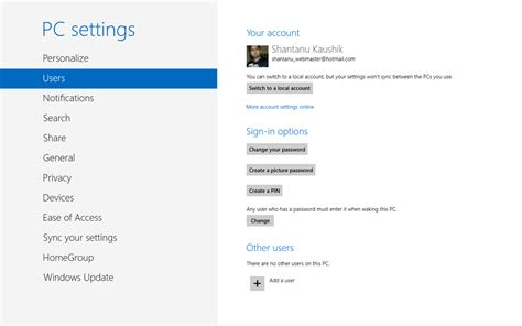 unable to access pc settings in windows 8 1 microsoft workaround unable to sync mails with new outlook com