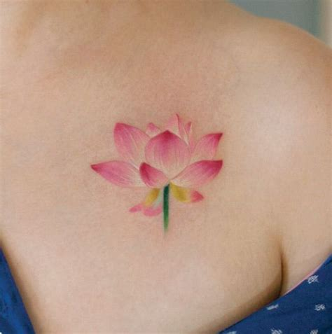 small pink flower tattoos 40 and tiny floral tattoos for lotus flower