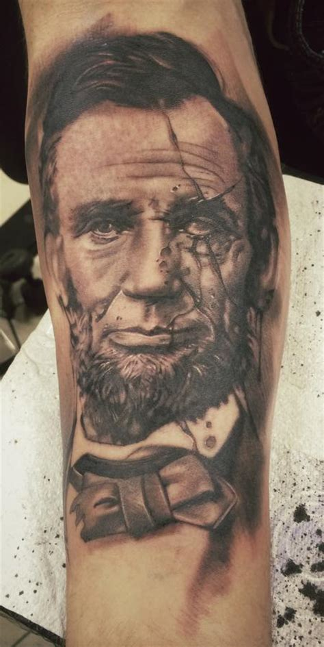 abraham lincoln tattoo abe lincoln by jason butcher tattoonow
