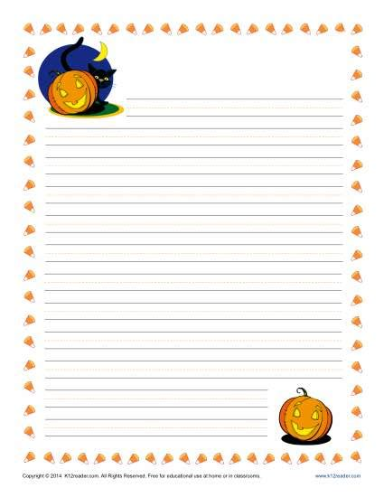 Halloween Writing Paper Template Halloween Writing Paper Printable Template For Kids