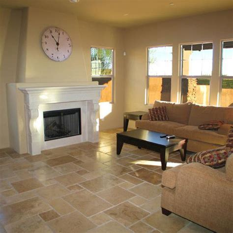 Travertine Living Room | natural stone travertine flooring