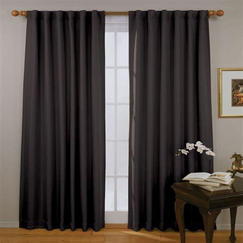 black eclipse curtains absolute zero total blackout black faux velvet curtain