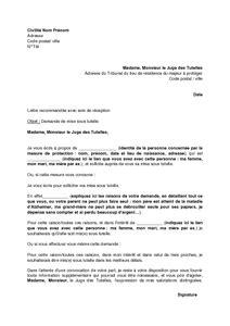 Exemple De Lettre Demande De Mise Sous Tutelle modele de lettre de mise sous tutelle personne ag 233 e