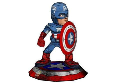 Captain America Papercraft - captain america papercraftsquare free papercraft