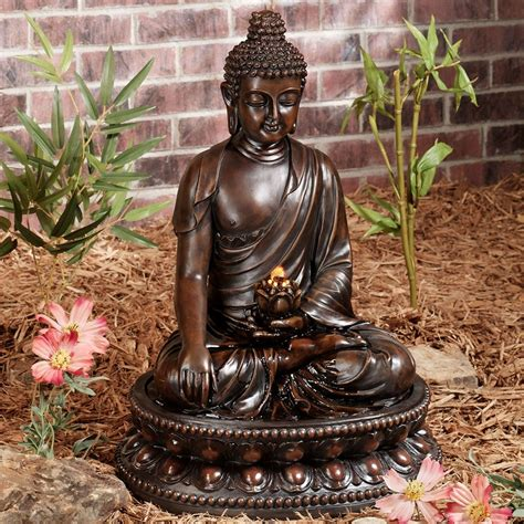 Sconces Decor Tabletop Buddha Water Fountain Great Home Decor