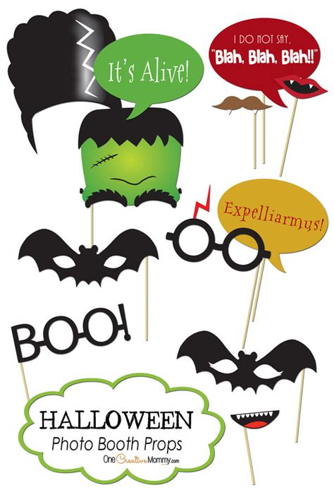 printable photo booth props for halloween free printables for fall and halloween