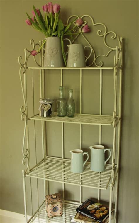 cream bathroom storage unit metal cream shelf unit shabby vintage chic bathroom shelves storage kitchen ebay