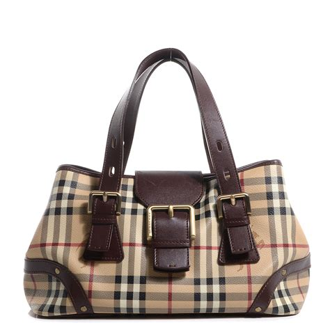 Resort Burberry Check Satchel by Burberry Haymarket Check Buckle Satchel 79734