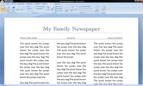 newspaper layout on word how to make a newspaper on microsoft word
