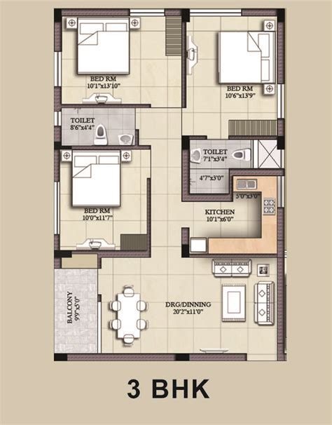 3 bhk house plan adiilaksmi