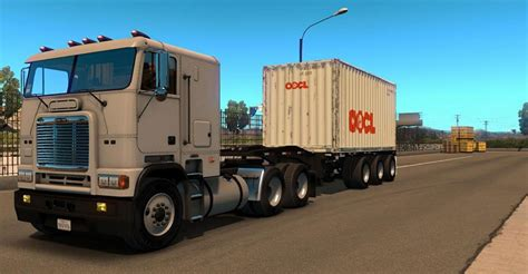 container ft  axles trailer american truck simulator mod ats mod