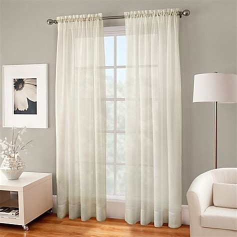 72 sheer curtains buy crushed voile sheer 72 inch rod pocket window curtain