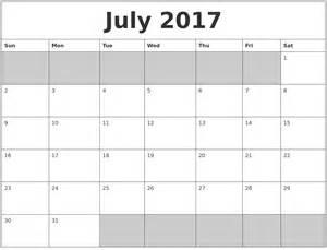 fillable calendar template july 2017 calendar fillable calendar template letter