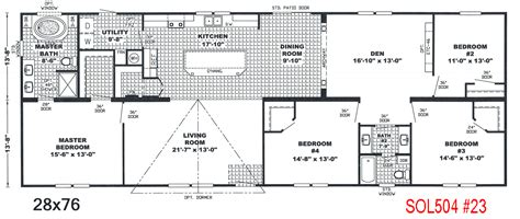 mobile home floor plans double wide bedroom bath mobile home also 4 double wide floor plans