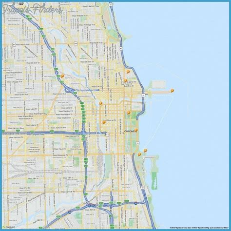 chicago map attractions attractions in chicago for images