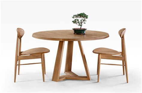 tripod dining table american oak lacewood furniture