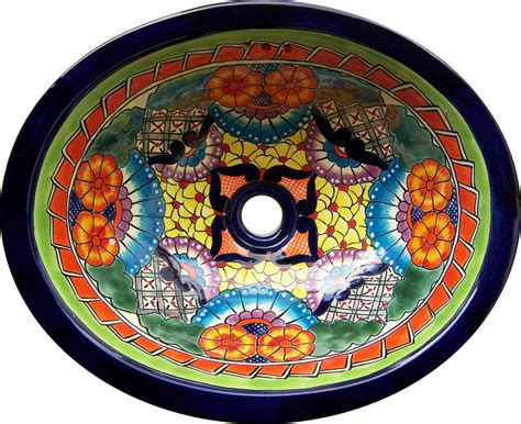Mexican Ceramic Sink by M 187 Mexican Talavera Ceramic Sink Bathroom Wash Basin 17