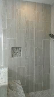 12x24 Tile In A Small Bathroom Master Bathroom Complete Remodel 12 Quot X 24 Quot Vertical Tile