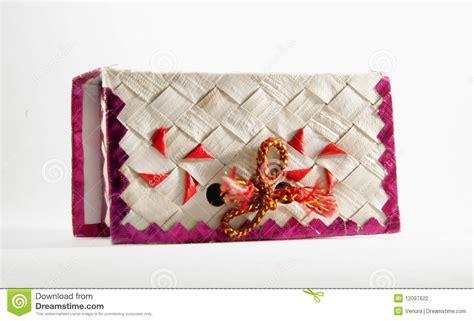 Decorative Handmade Wedding Cake Box Stock Photo   Image