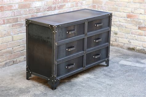 Modern Industrial Steel Bedroom Dresser Vintage Style Metal Bedroom Dresser