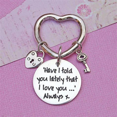 Handmade Keyrings - handmade personalised silver key ring by