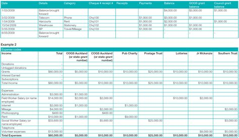 grant reporting template communitynet aotearoa 187 financial reporting