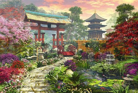 Garden Puzzle by Japan Garden Educa 3000 Puzzle