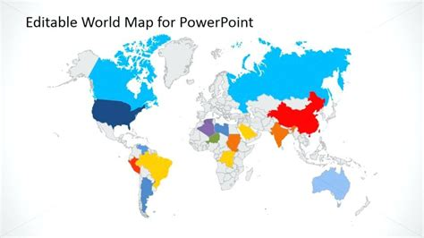 editable world map editable world map for powerpoint editable