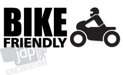 Biker Friendly Sticker by Jdp Signs Bike Friendly Vinyl Decal Sticker