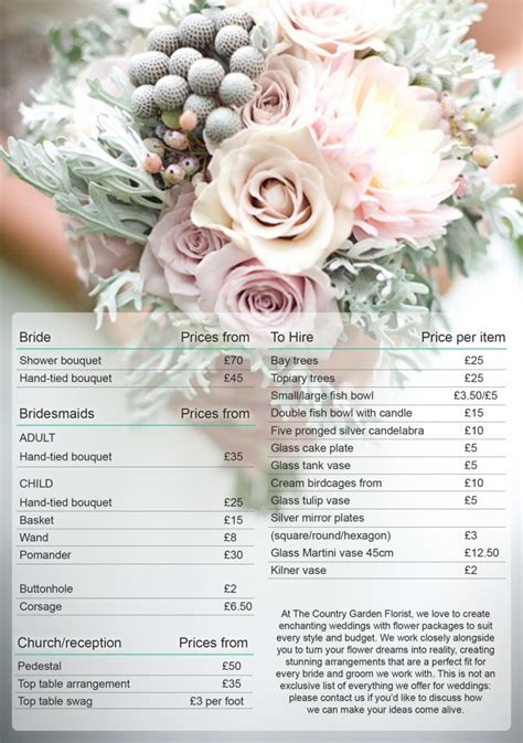 Wedding Flower Prices great wedding bouquet prices 2016